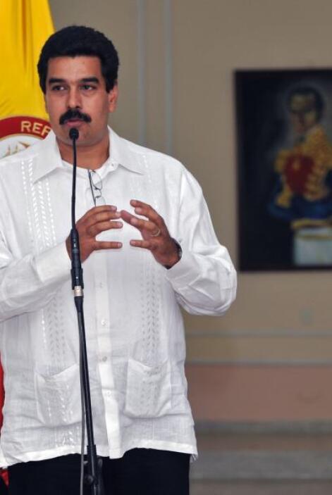 """Y Maduro además dijo a la estatal Venezolana de Televisión que """"la batal..."""