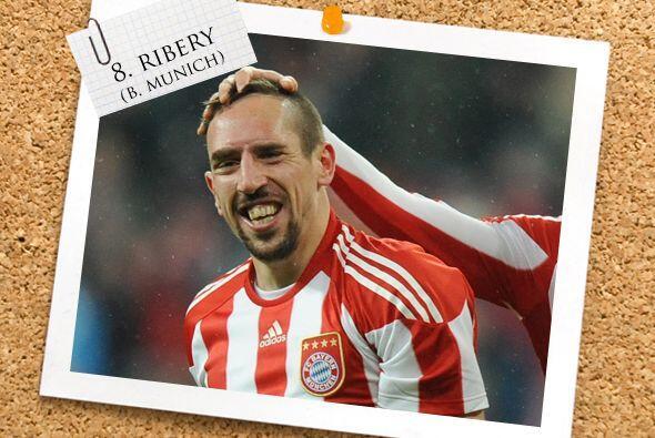 El francés Franck Ribery vuelve a nuestro once ideal cerrando la lista d...