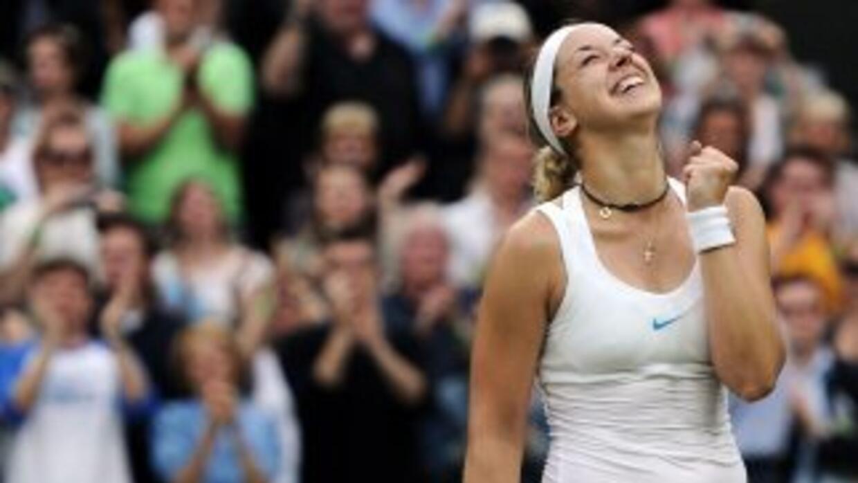 Lisicki, que empezó este Wimbledon en la posición número 62 del ránking,...