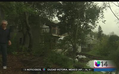 Tormenta pone en riesgo a dos casas de Moraga
