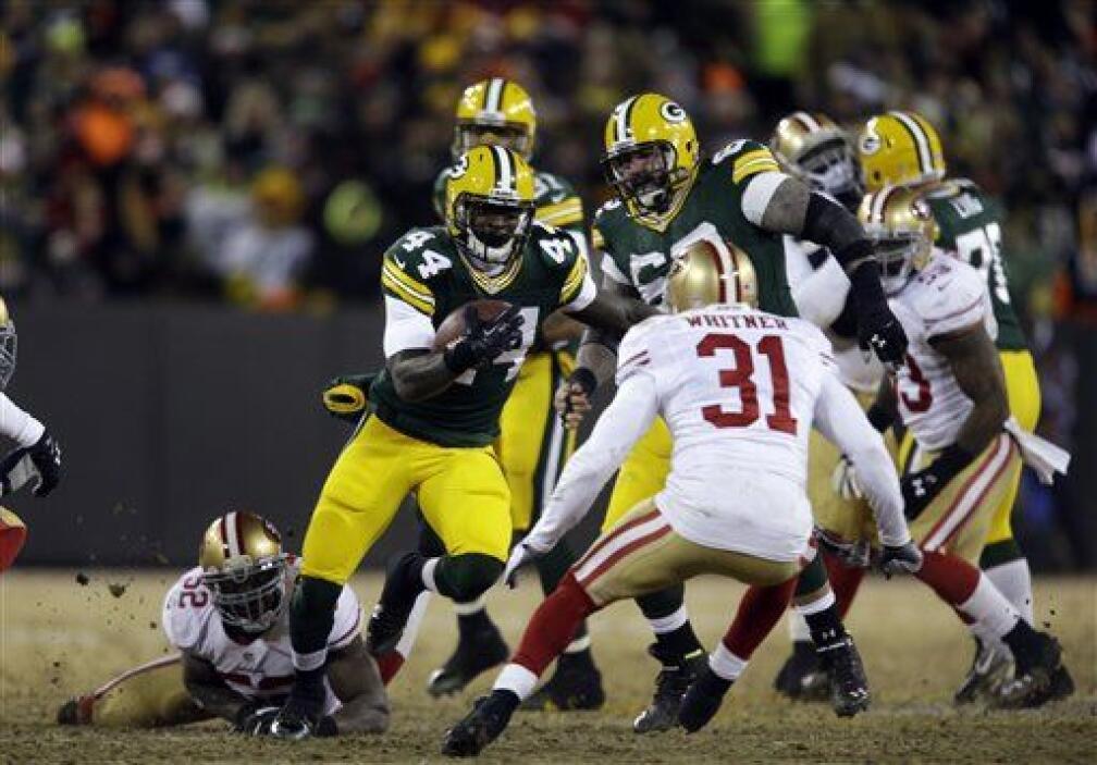 El juego terrestre de Packers, por años su mayor debilidad, generó 124 y...