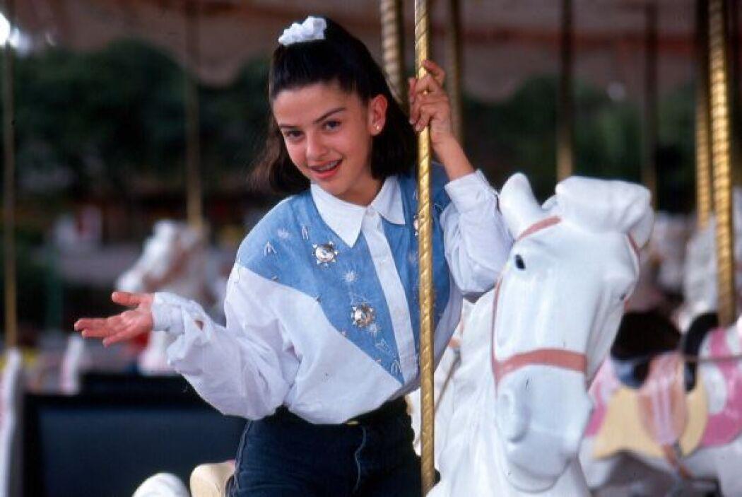 Lydia Avila a los 9 años, cuando OV7 era la llamada Onda Vaselina.