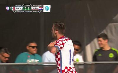 Goooolll!! Duje Cop mete el balón y marca para Croatia