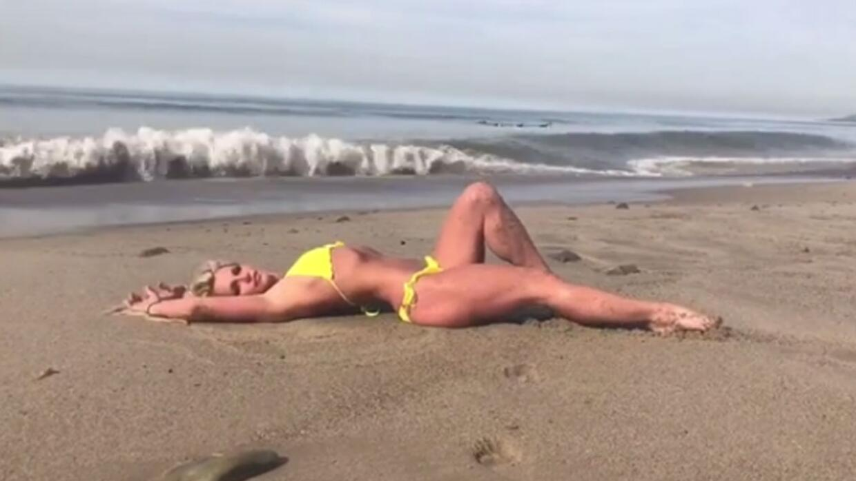 Britney Spears en la playa