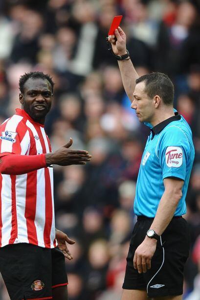 La frustración de los jugadores del Sunderland se vio reflajada c...