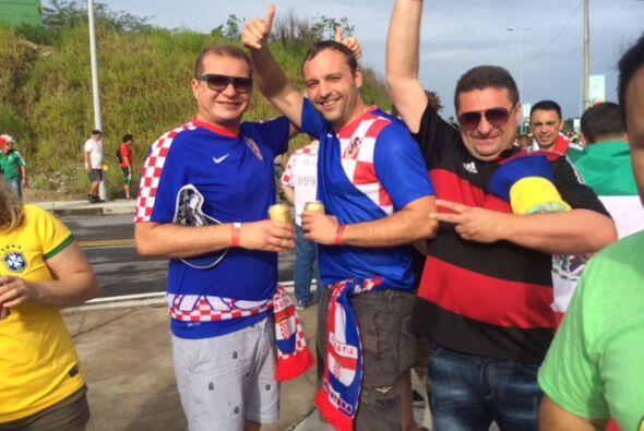 Y claro, no podíamos dejar fuera a los fanáticos de Croacia.