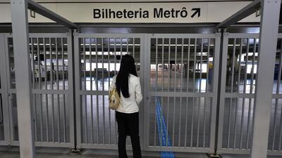 Paro en el metro de Brasil a una semana del Mundial