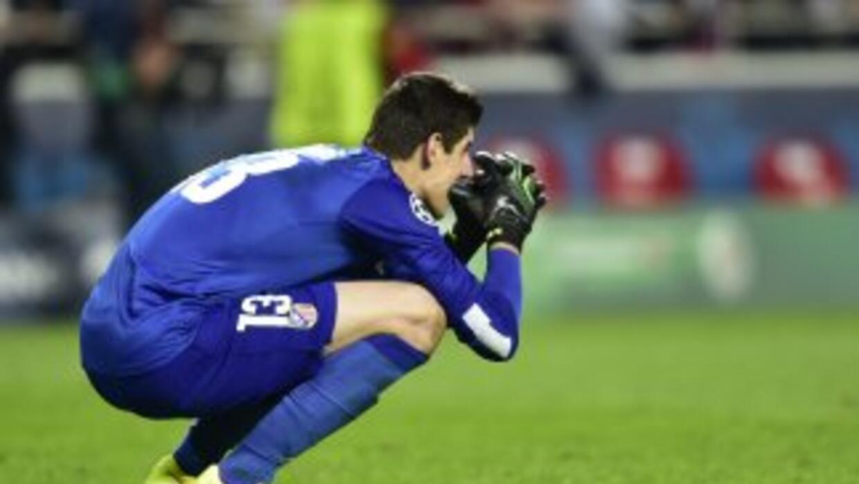 Thiabaut Courtois lamentó la derrota del Atlético.
