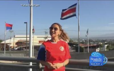 Vero Bastos fue a Costa Rica a ver el fútbol con el Presidente