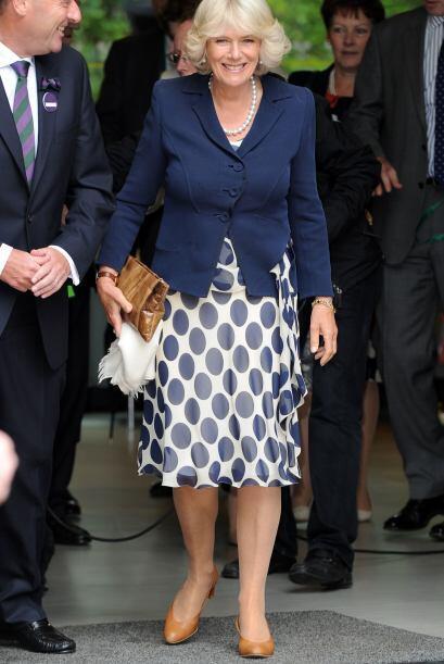 Sonriente y accesible, estuvo la duquesa en su estadía en Wimbledon.