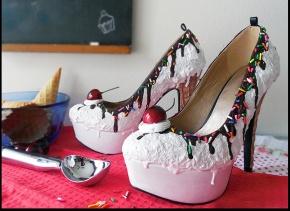 zapatos de pastel