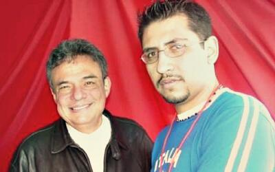 Cesar 'El Caballo' junto a José José en el 2007.