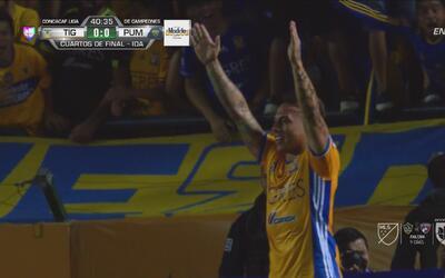 Con este golazo, 'Edu' Vargas se estrenó con Tigres
