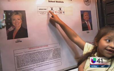 Realizan ejercicio de votaciones en una escuela de New Jersey