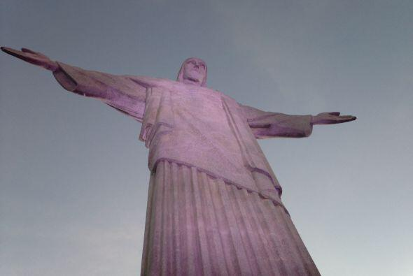 Raúl estuvo también en la estatua del Cristo Redentor.