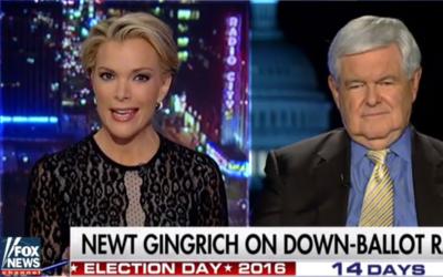 Megan Kelly entrevistando a Newt Gingrich