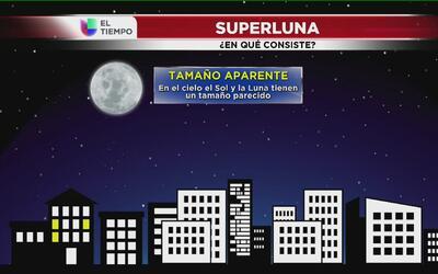 Conozca porqué se dará el fenómeno de la Superluna