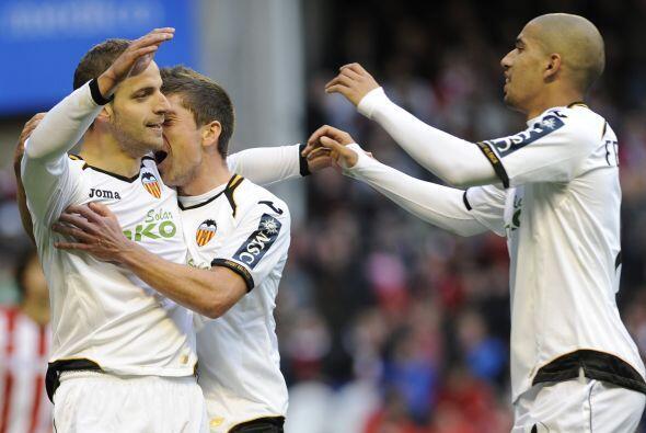 Valencia se reafirmó en el tercer puesto de la Liga española, puesto que...