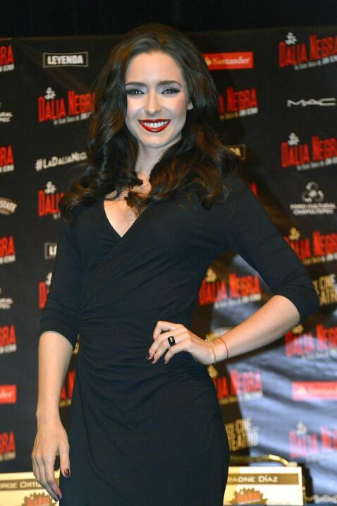 Ariadne Díaz estrenó la obra de teatro 'La Dalia negra'