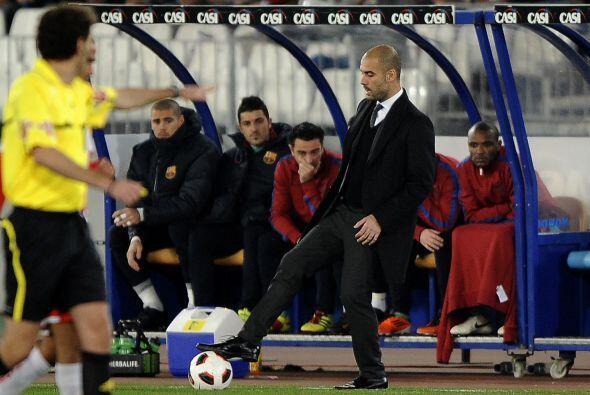 Guardiola se notaba bastante tranquilo.