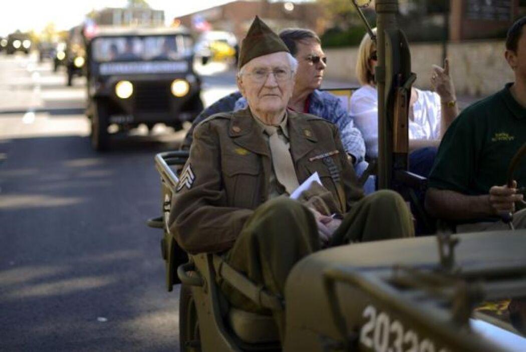 William Brough, de 91 años, veterano de la Segunda Guerra Mundial.