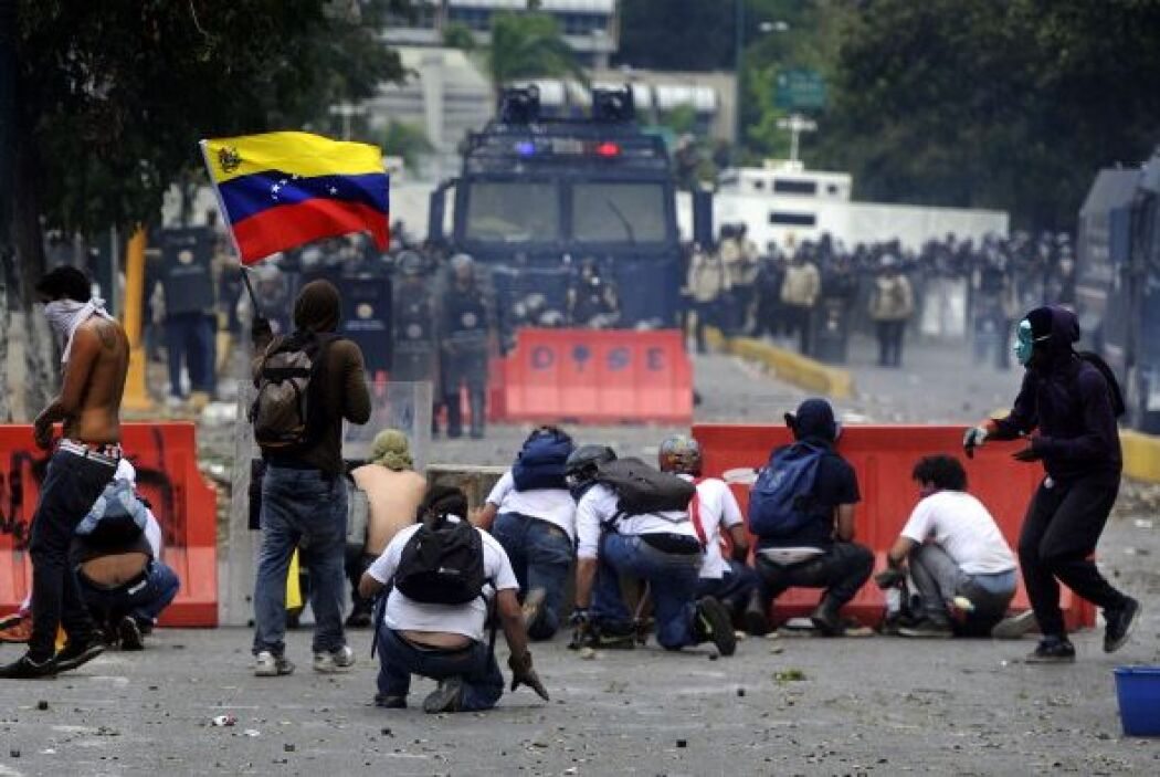 Los venezolanos cumplen tres meses inmersos en un clima de protestas ant...