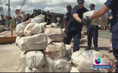Salió de Jamaica el cargamento de dos toneladas de marihuana incautado p...