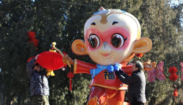 Festejos en honor al año nuevo chino en Hong Kong.