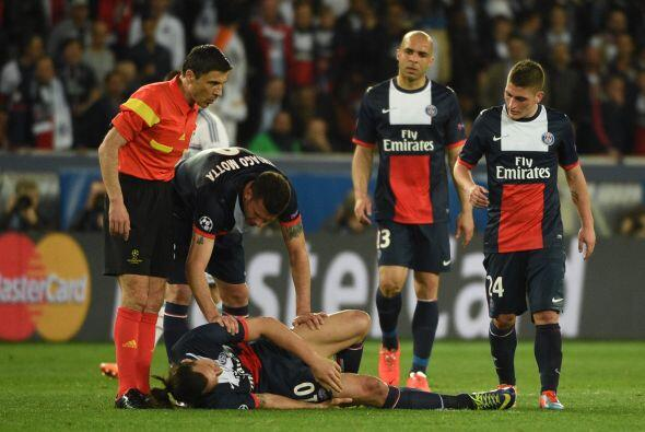 Y las lesiones también se vieron en este partido, lesiones de fig...