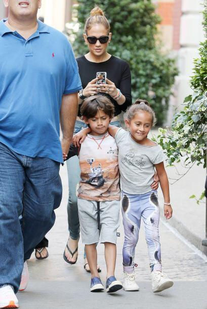 ¡Sí! Son los hijos de Jennifer Lopez y Marc Anthony.