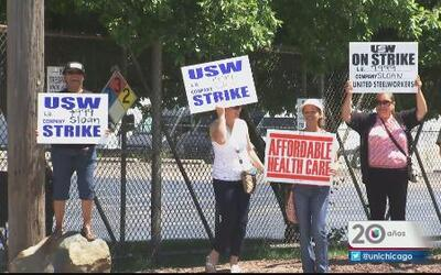 Candente huelga laboral en Franklin Park