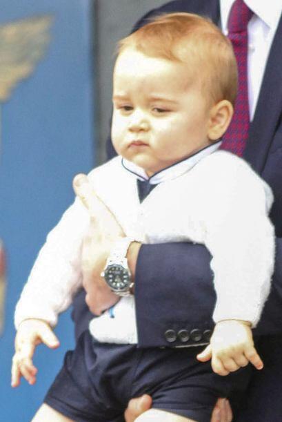 Y el pequeño, aunque se veía algo incómodo, se comportó como un verdader...