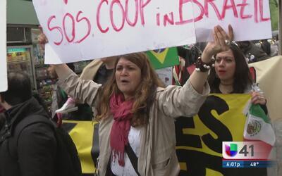 Activistas en New York levantaron la voz por trabajadores e inmigrantes