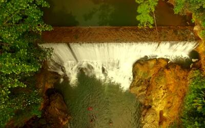 Puerto Rico desde el aire presenta paisajes de la isla tomados desde un...