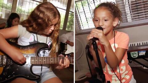 Conoce este campamento musical especial para pequeñas rockeras