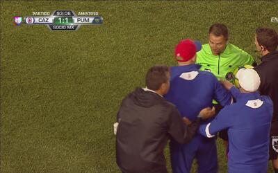 Paco Jémez a punto de perder la cabeza en contra del árbitro