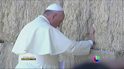 El Papa Francisco concluye su recorrido por Tierra Santa