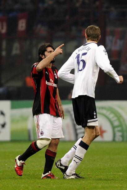 Gennaro Gattuso, histórico jugador del Milan de Italia, jugó un patido '...