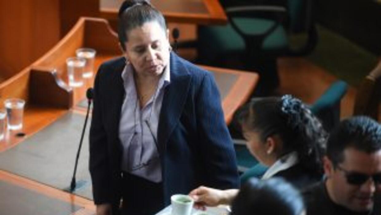 La exdirectora del DAS, María del Pilar Hurtado, durante la audiencia en...