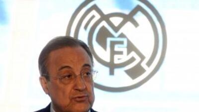El presidente del Madrid no quiso profundizar sobre el tema de Bale, per...