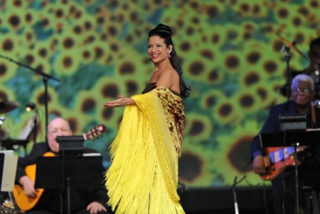La cantante española dejó constancia de su potente voz.