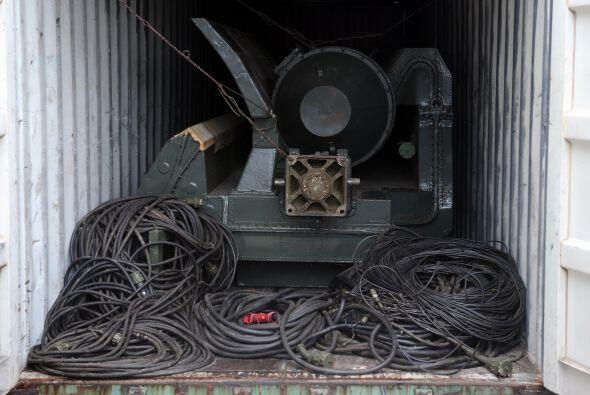 El mercante norcoreano fue retenido por las autoridades panameñas hace d...