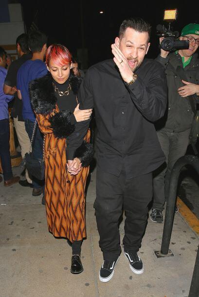 Joel y Nicole se mostraron algo incómodos ante las cámaras...