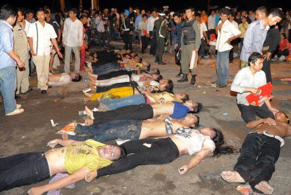 La mayoría de las víctimas fue ingresada en al menos cinco hospitales de...