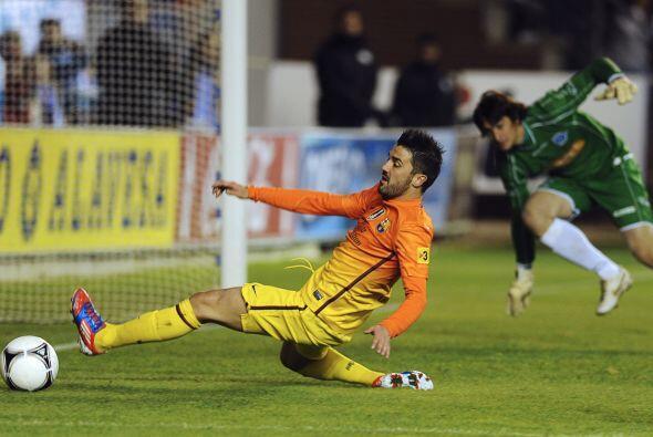 Villa estuvo muy cerca de lograr su segundo gol de la noche, pero no lle...