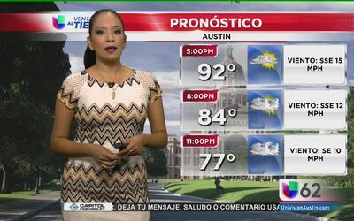 Fuertes lluvias llegarán a Austin a partir de este viernes
