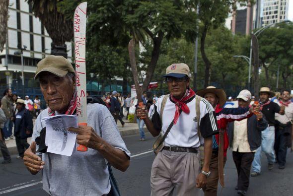Entre los participantes estaban el Movimiento por la Paz con Justicia y...