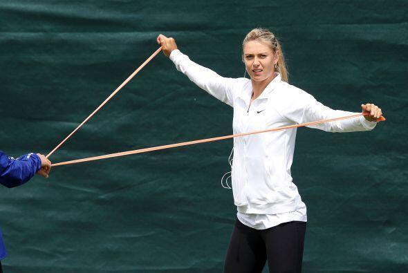 Sharapova entrenaba los días que no tenía partidos para ll...