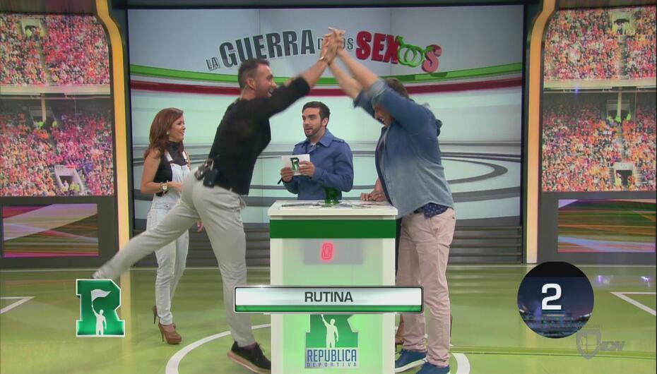 Diego Di Marco y Julián Gil ganaron en la Guerra de los Sexos