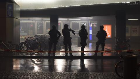 Estación central cerrada en Múnich.